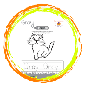 Color The Grey Cat