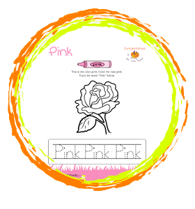 Color The Pink Rose